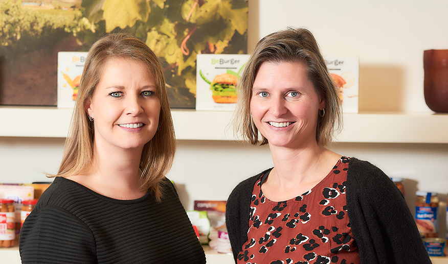 Zwanenberg Product Manager Manon ter Haar and Team Coordinator Specification Management Sandra Mensink